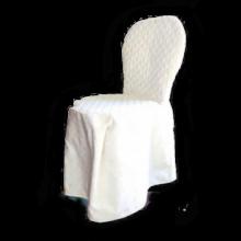 Coprisedia bianco trapuntato fiocco fronte