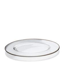 Sottopiatto trasparente bordo platino
